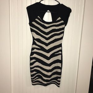 Forever 21 black and white striped dress